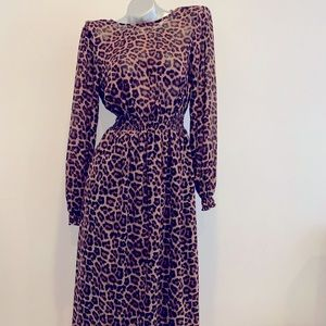 Trendy cougar print dress